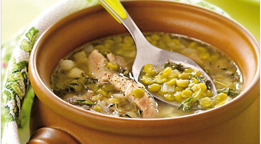 сколько варить горох в супе